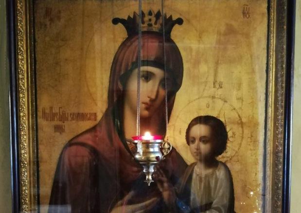 Состоялся молебен с акафистом у Афонского образа Божией Матери «Скоропослушница»